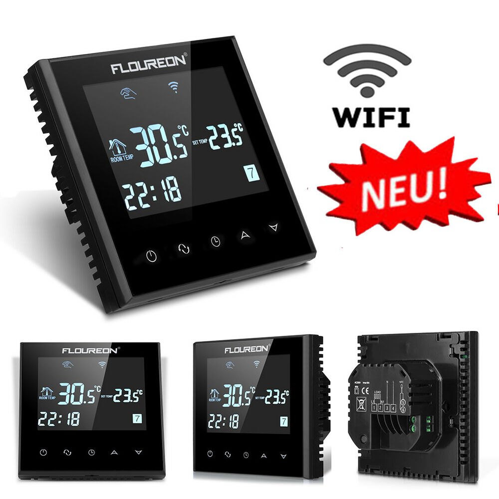 smart wi fi digital touch screen thermostat programmierbar heizk rper raumregler ebay. Black Bedroom Furniture Sets. Home Design Ideas