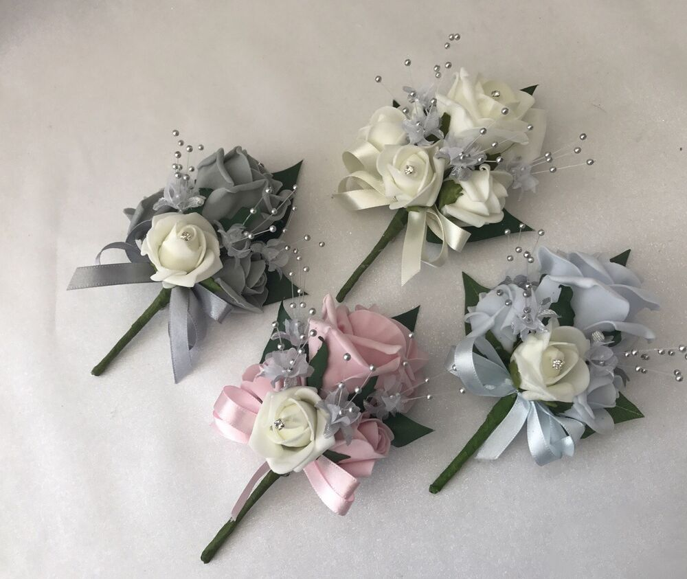 Wedding Buttonhole Corsage Ladies Flowers Mothers Pin On