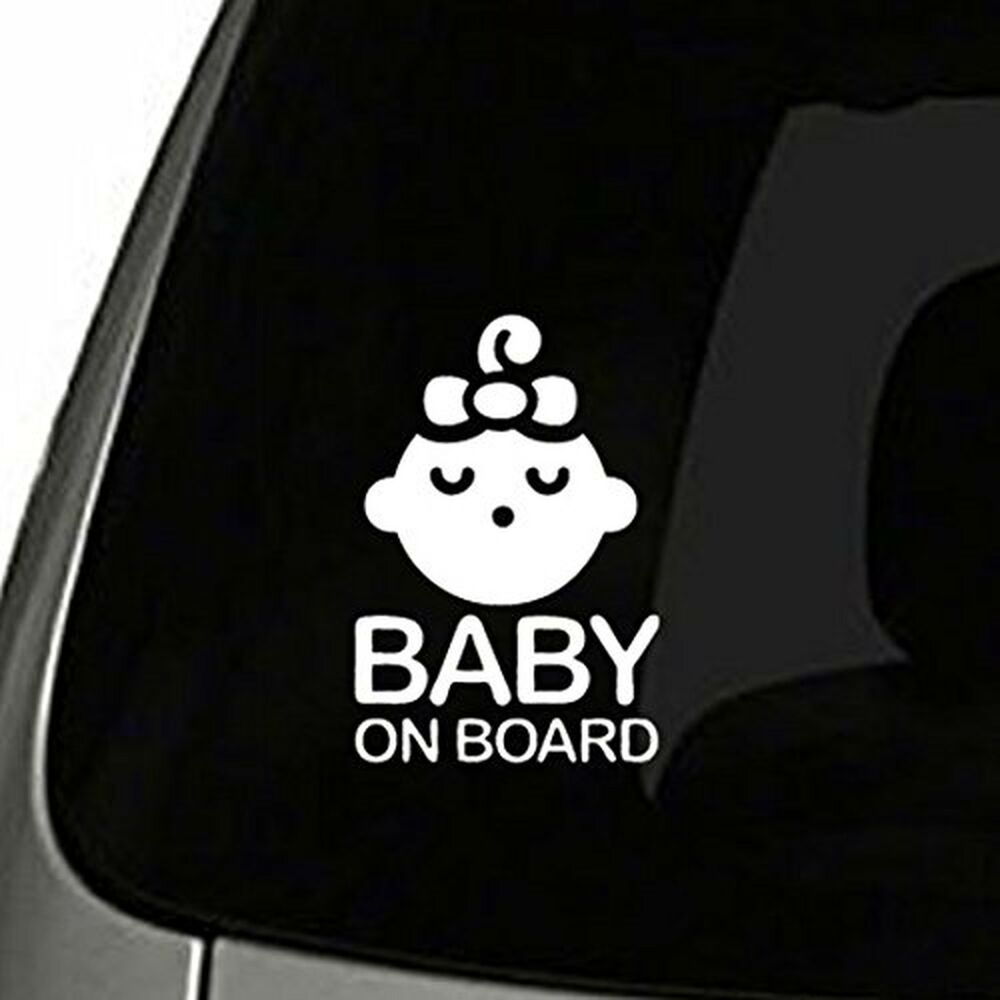 Details about girl baby on board sticker decal safety caution sign for car window