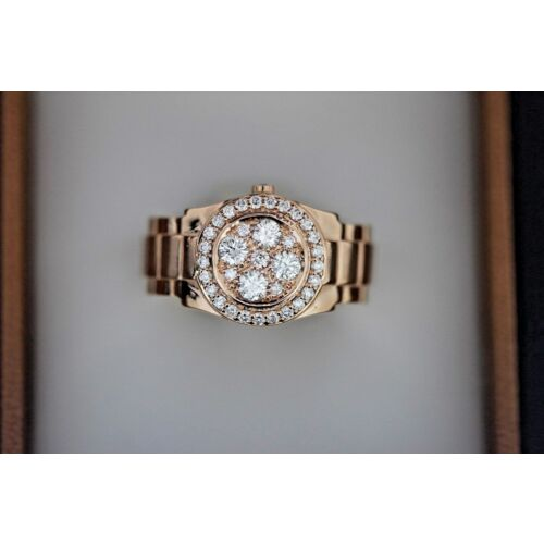 round-diamond-rose-gold-mens-ring-watch-link-design-custom-18k-solid