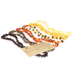 Baltic Teething Necklace for Baby Polished Beads 3 Sizes 8 Colors 11 - 13.4""