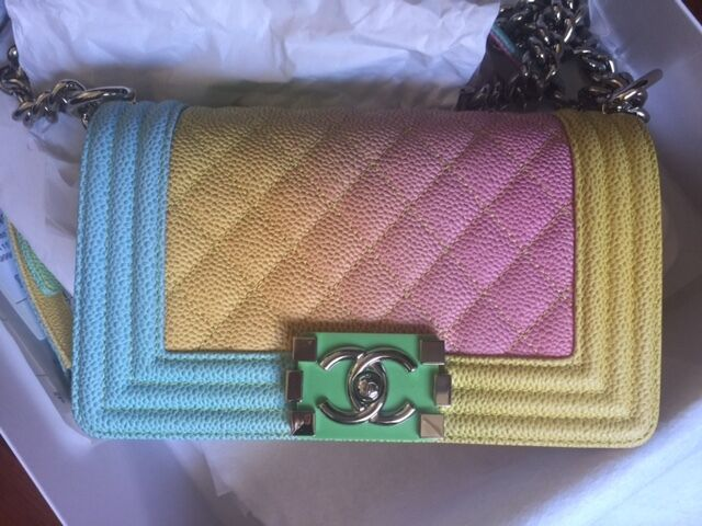 Details about Chanel Rainbow Chanel Cuba Boy Handbag Small  17 Crossbody  NEW Sold Out 0ce9b70b3f15d