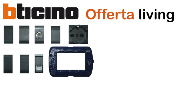 OFFERTA MATERIALE ELETTRICO PRESE interruttori BTICINO LIVING international