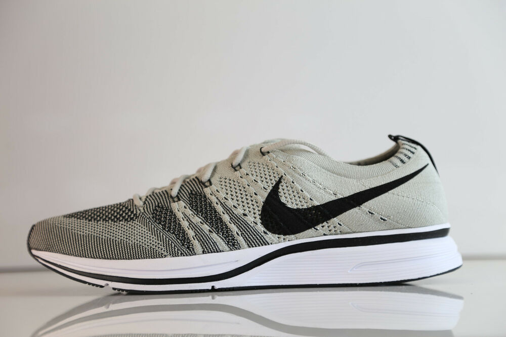 02d2e0d1b2ad9 Details about Nike Flyknit Trainer Pale Grey Black White AH8396-001 5-115  white racer og