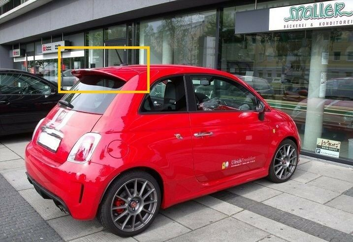 fiat 500 from 2007 abarth look rear roof spoiler new ebay. Black Bedroom Furniture Sets. Home Design Ideas