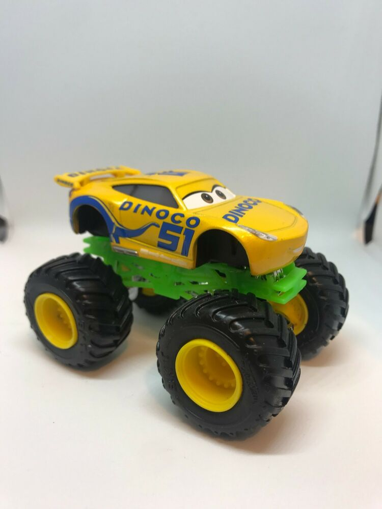 Disney Pixar Cars 3 Mash Up Monster Trucks Dinoco Cruz Ramirez Ebay