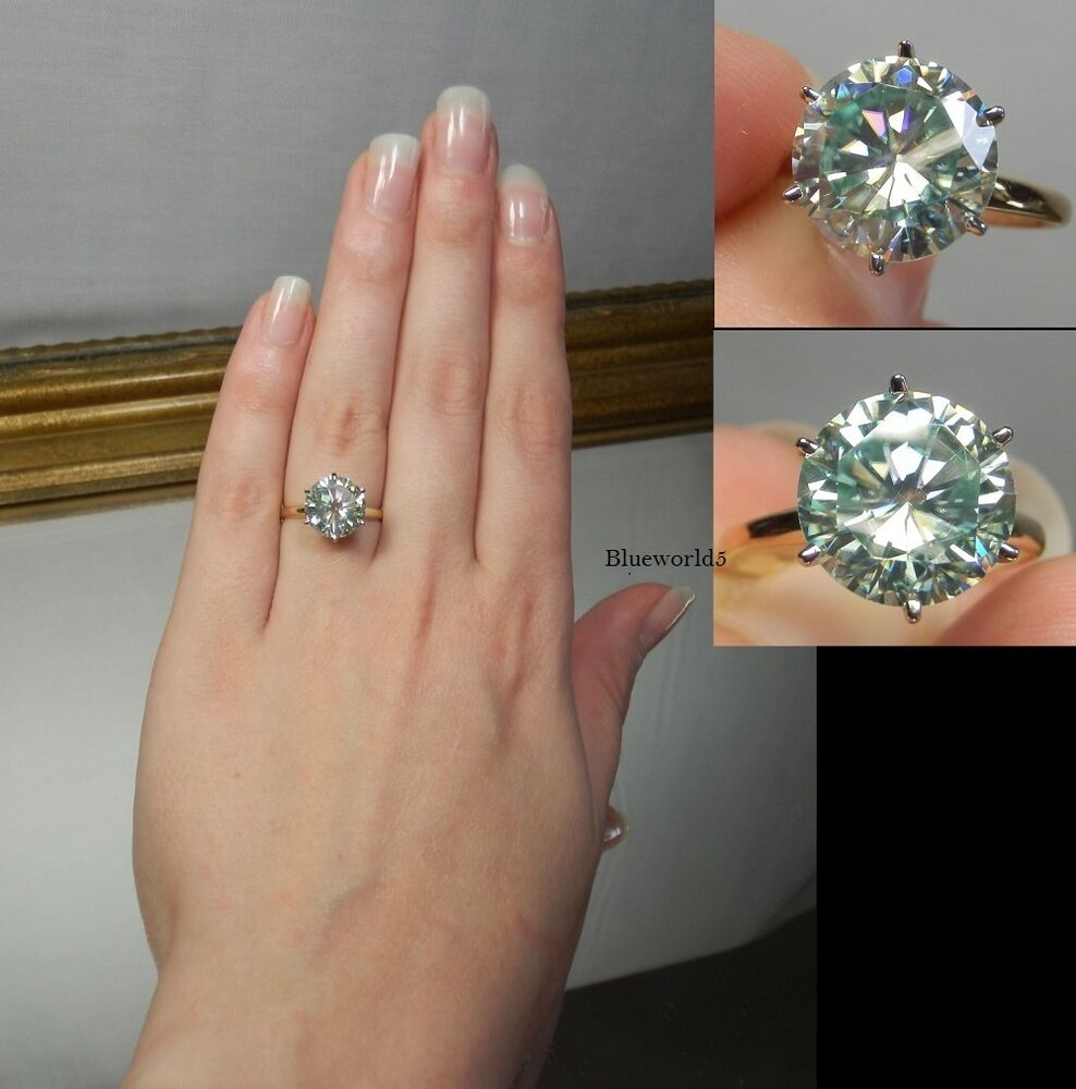 S Moissanite Ring