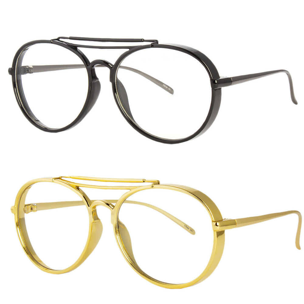 2db543d5f7d Details about large oversized big round metal frame clear lens round circle  eye glasses black jpg