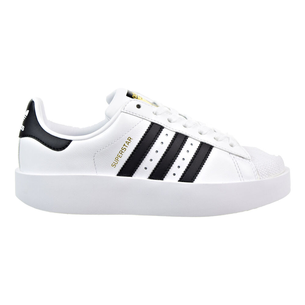1b84ed7d6a597 Details about Adidas Superstar Bold Women s Shoes White Black Gold ba7666
