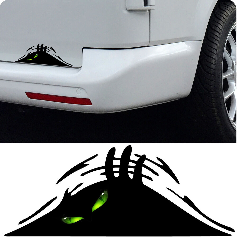 Details about evil eyes peeking monster sticker car funny joke novelty vinyl decal gift xmas
