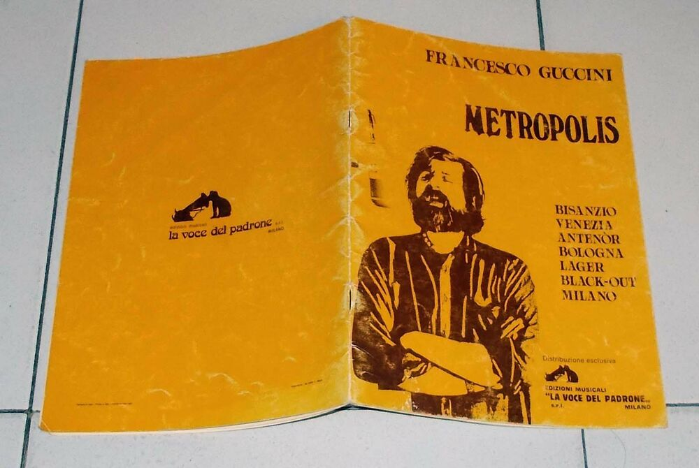 Spartiti FRANCESCO GUCCINI Metropolis - 1981 Songbook Sheet music | eBay