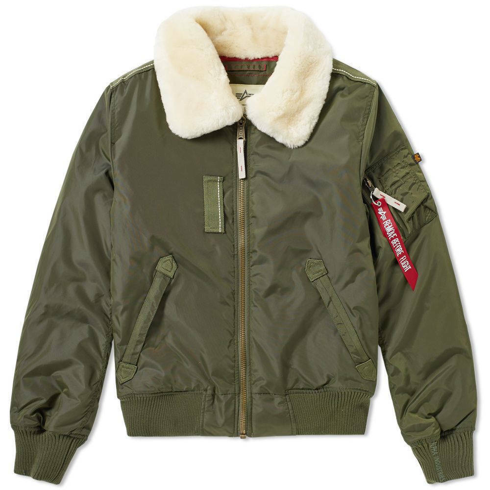 fa935945c6c5 ALPHA INDUSTRIES MENS INJECTOR III DARK GREEN BOMBER JACKET   eBay