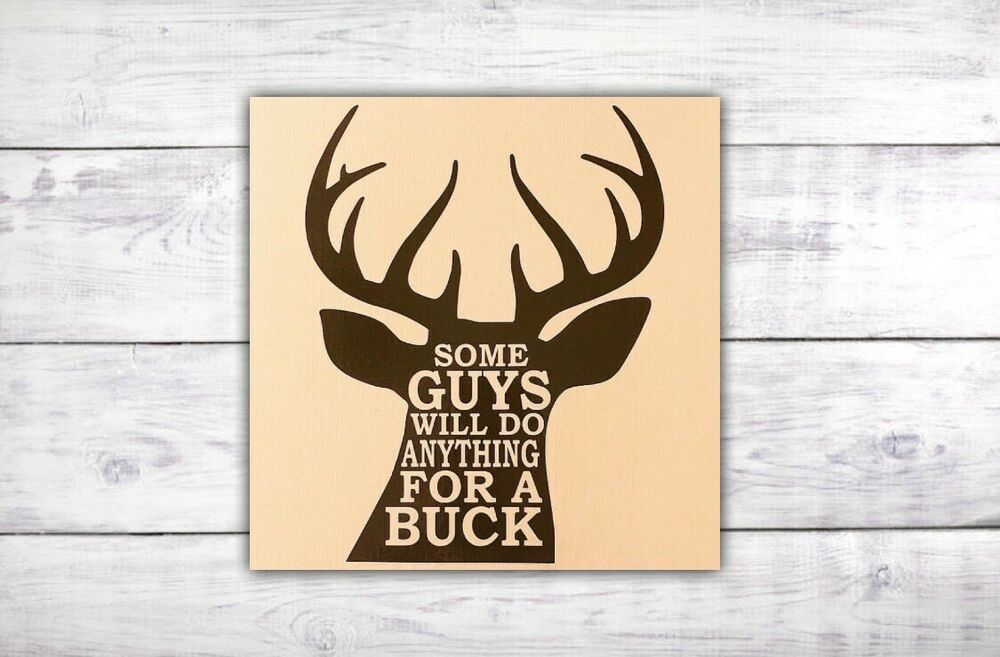 Hunting Sign / Deer Sign / Hunting Wall Decor / Deer Antler Sign ...