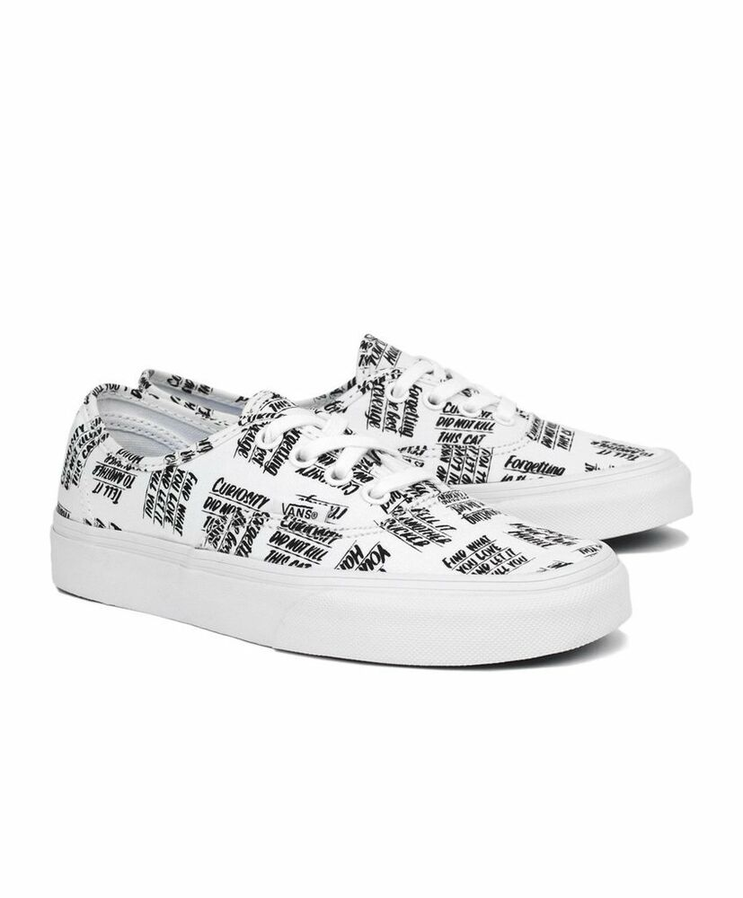 2408e25cdc Mens Vans x Baron Von Fancy Shoes SZ 4 White Black VN0003B9I9Y