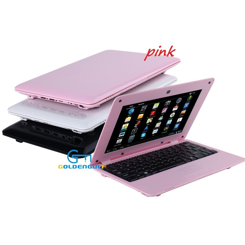 newest 10 inch mini pink laptop netbook android computer with wifi camera mouse ebay. Black Bedroom Furniture Sets. Home Design Ideas