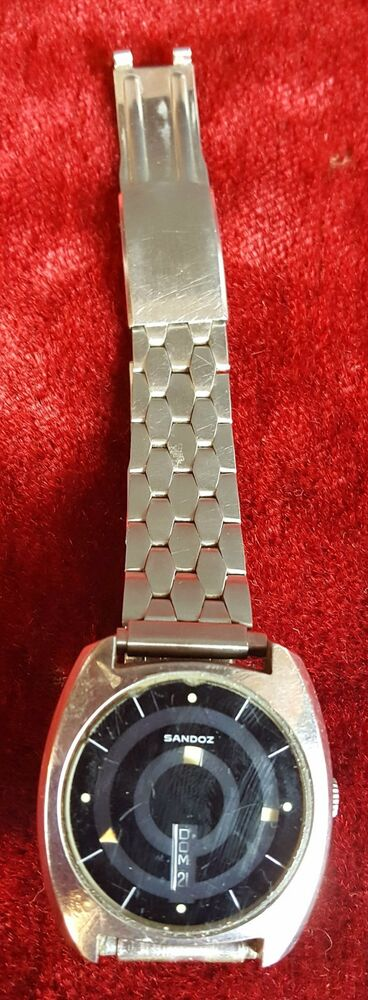 WRIST WATCH. SANDOZ. MYSTERY DIAL. 25 JEWELS. SWITZERLAND. CIRCA 1970.  5feb58f2b20e