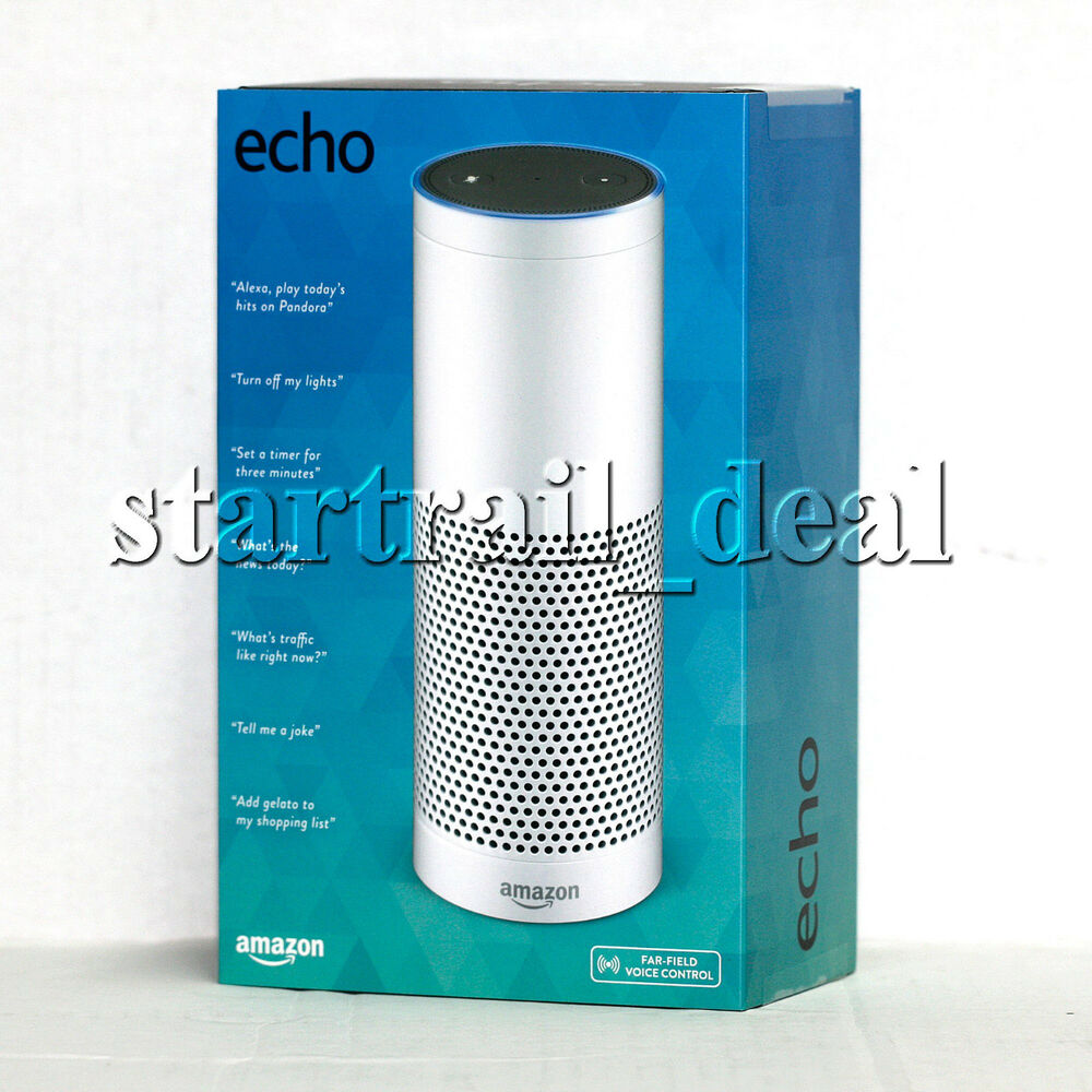 amazon echo 1st generation smart assistant white ebay. Black Bedroom Furniture Sets. Home Design Ideas