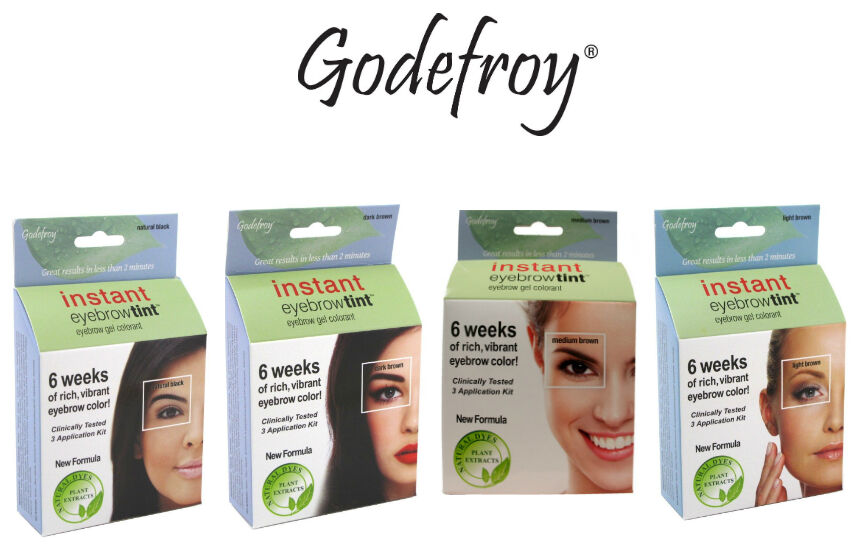 Godefroy Instant Eyebrow Tint Natural Gel Colorant 3 Application Kit