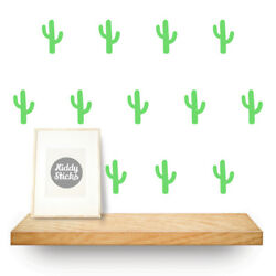 16 x Cactus Wall Decals / Stickers 15 colours available UK seller  Free P&P