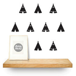 Teepee Shaped Wall Stickers  Decals 15 colours  UK seller  Free P&P