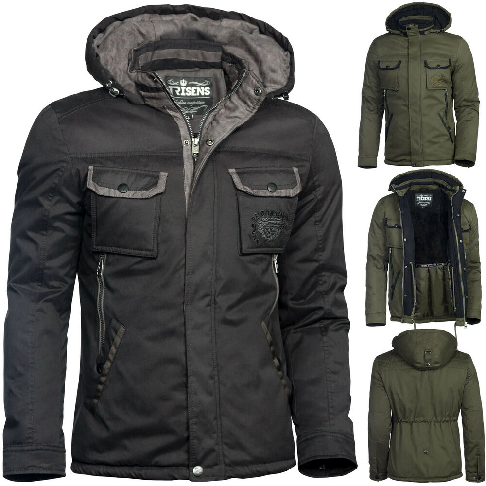 trisens herren winter jacke military style wasserdicht parka army mantel ebay. Black Bedroom Furniture Sets. Home Design Ideas