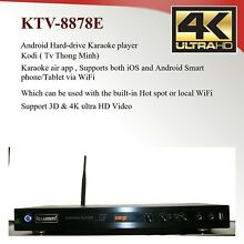 Android KTV-8878E karaoke player 4tb harddrive load with 33000+ Vietnamese songs