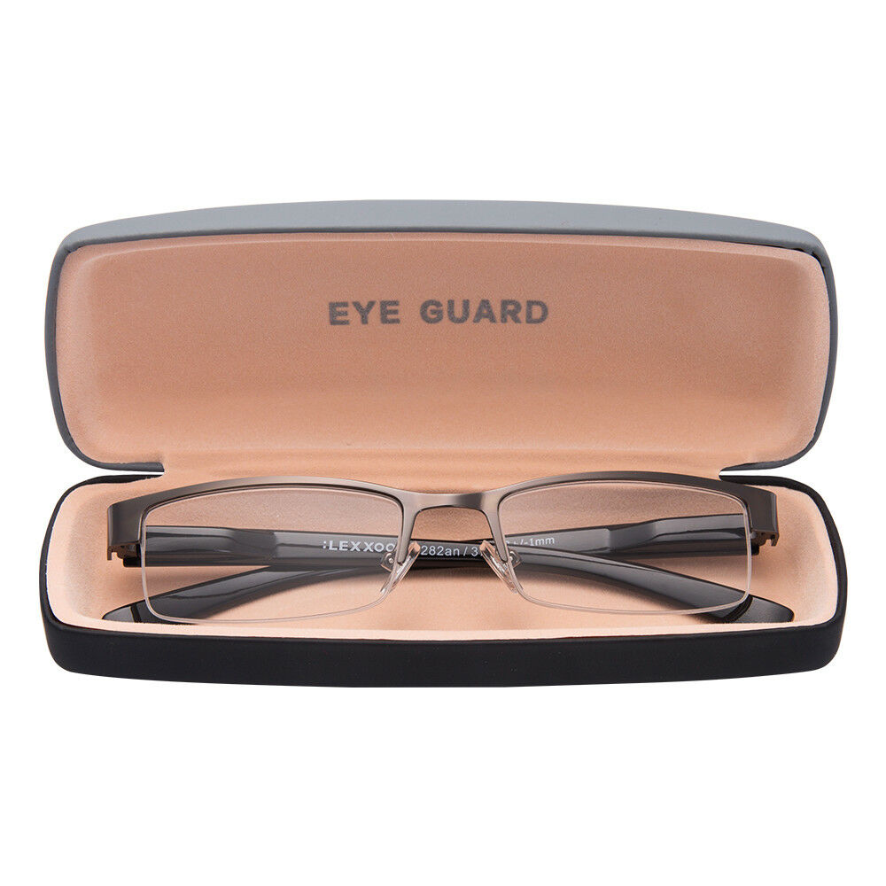 62adeaa65e0 Details about Readers Reading Glasses Half Frame Metal Deluxe Style  Rectangular Classic Men