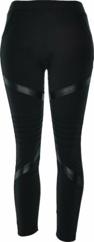 Women's Faux Leather Legging Pocket Jeggings Stretch Moto Pull On