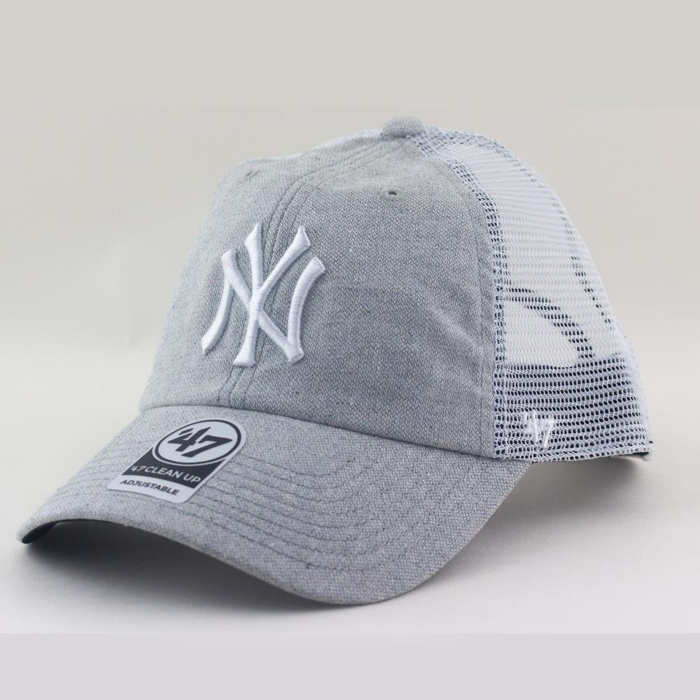 New York Yankees MLB Supporters Trucker Hat Vaughn Cap From 47 Brand In Grey 14ef5a6bbc2