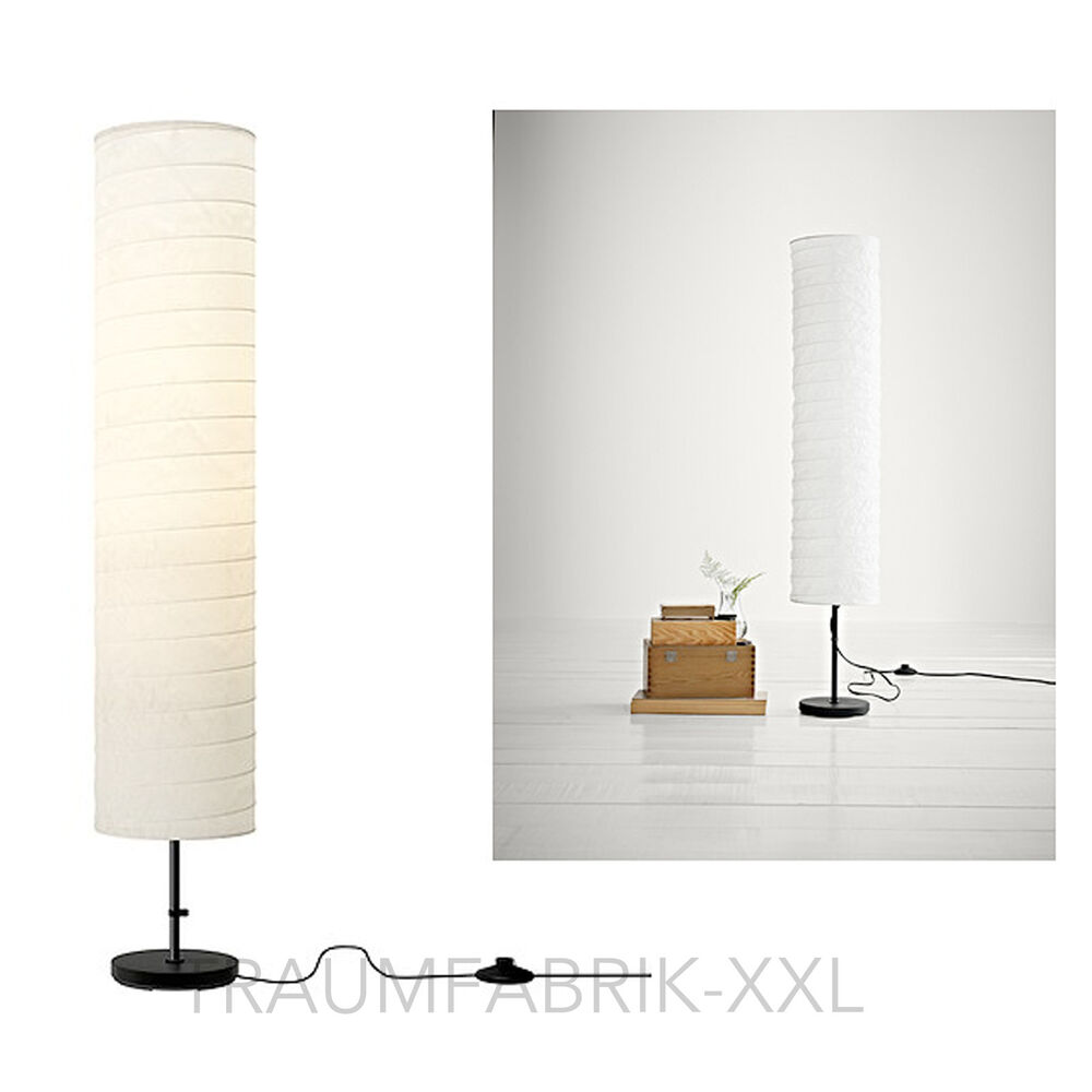 ikea holm stehlampe standleuchte standlampe aus papier stimmungslicht lampe neu ebay. Black Bedroom Furniture Sets. Home Design Ideas