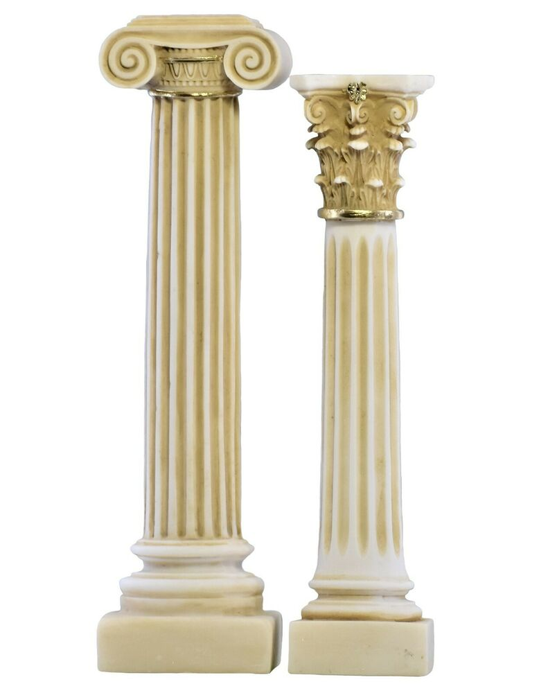 Set 2 Greek Columns Ionic Amp Corinthian Style Pillar