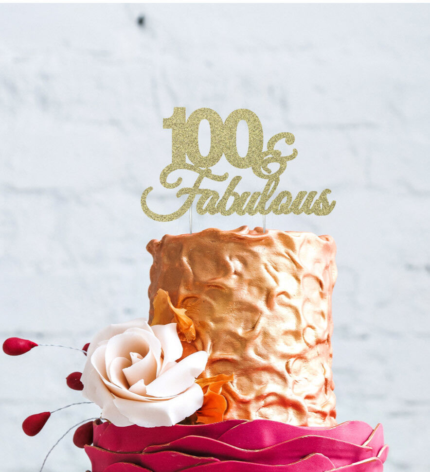 Details About 100th Birthday Cake Topper