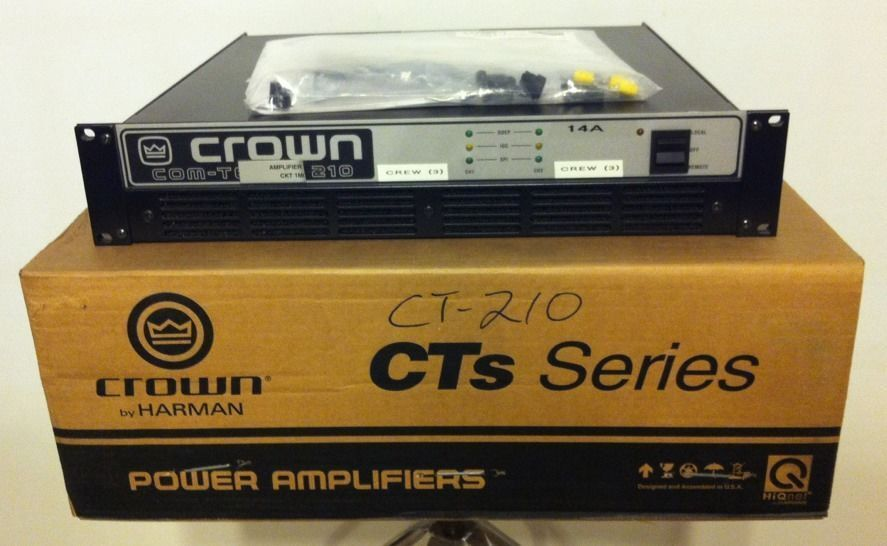 crown by harman com tech ct 210 300w 2 channel power amplifier rack mount amp ebay. Black Bedroom Furniture Sets. Home Design Ideas