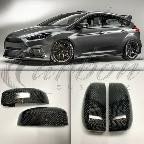 new ford focus rs mk3 real carbon fibre mirror covers full. Black Bedroom Furniture Sets. Home Design Ideas