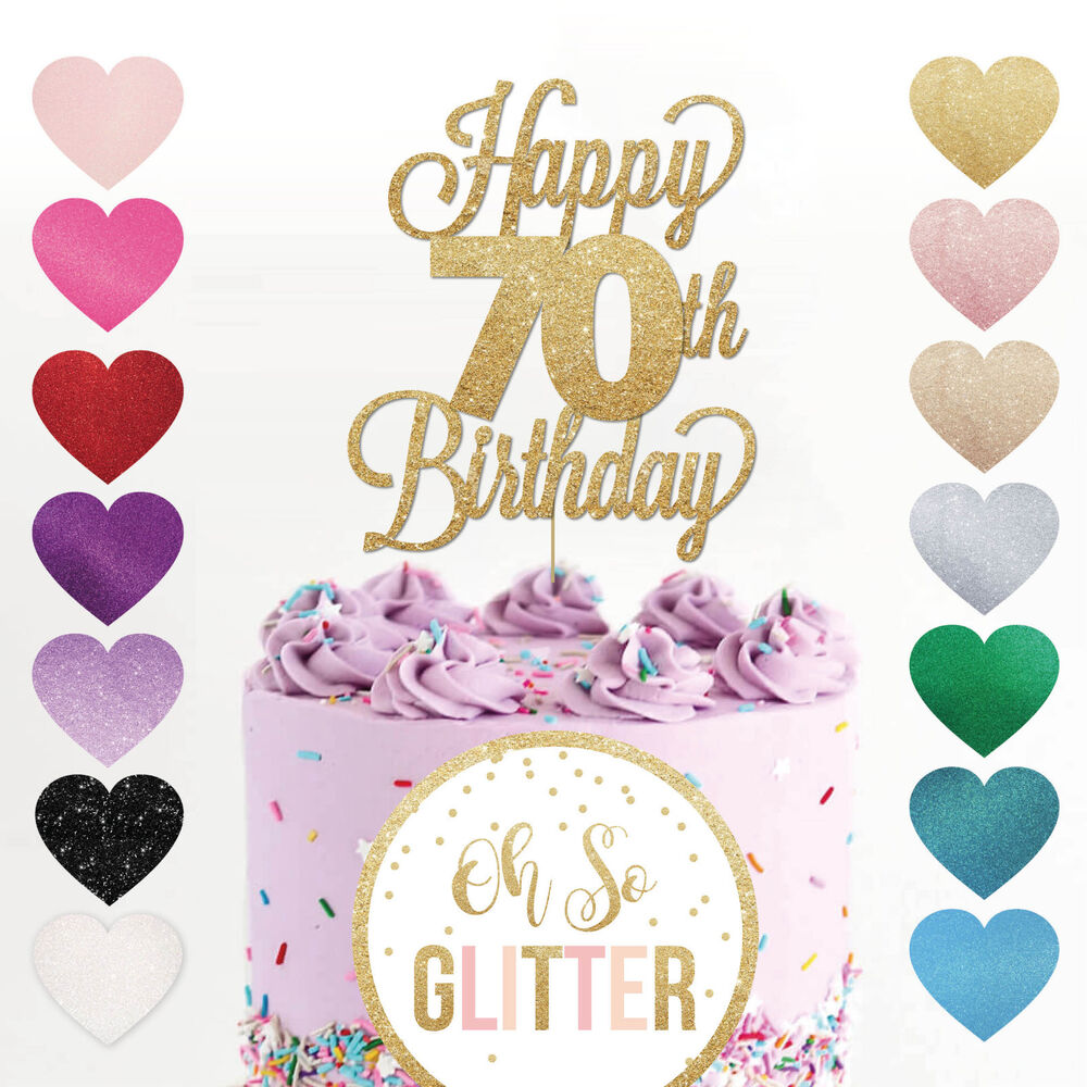 Seventy Cake Toppers