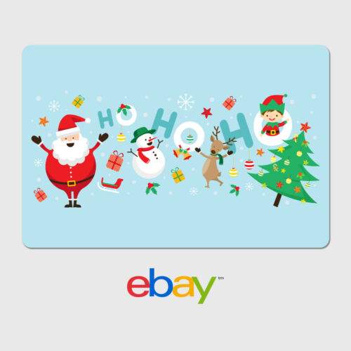 eBay Holiday Digital Gift Card - $25 to $200 Email Delivery