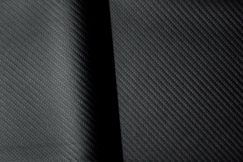 Black Carbon Fiber Vinyl Faux Leather Auto Marine Upholstery Fabric