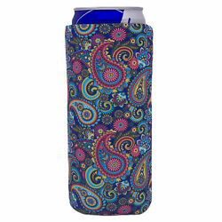 Paisley Pattern Slim Can Coolie: Compatible with Ultra, Skinny