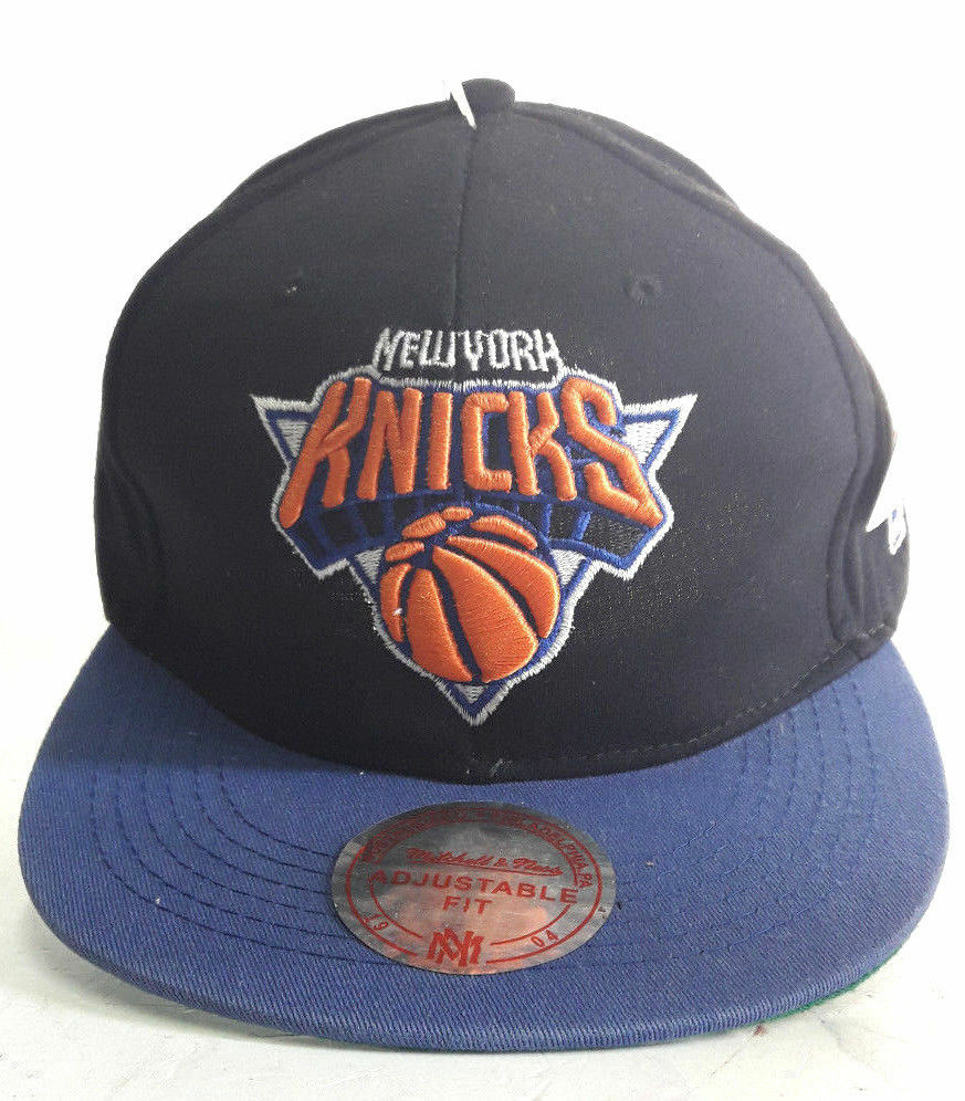 9512025907b Details about NBA New York Knicks Hat Cap Mitchell Ness Snapback 2 Color  Tone One Size New