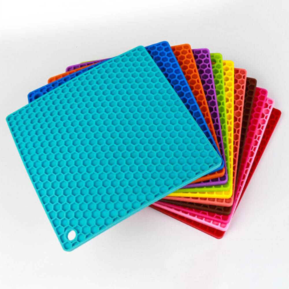 Silicone Drying Mat Cup Bowl Dish Heat Resistant Mat Home