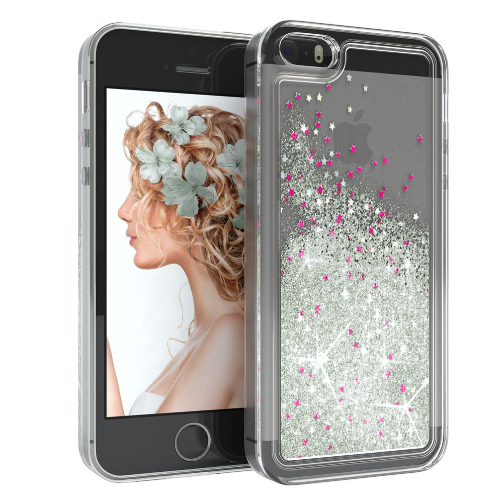 schutz h lle f apple iphone se 5 5s liquid glitzer. Black Bedroom Furniture Sets. Home Design Ideas