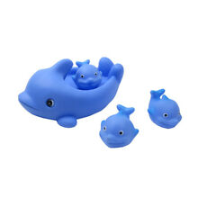 Floating Bath Tub Toy Playmaker Toys Rubber Whale Family Bathtub Pals Set of 4