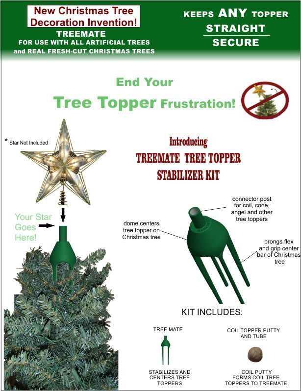 treemate christmas tree topper stabilizer kit and holder ebay - Christmas Toppers