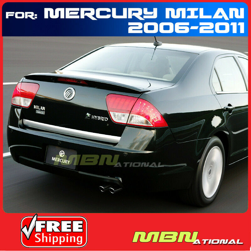 Details About 10 11 Mercury Milan Sedan Rear Trunk Spoiler Painted Red Light Ws White Suede