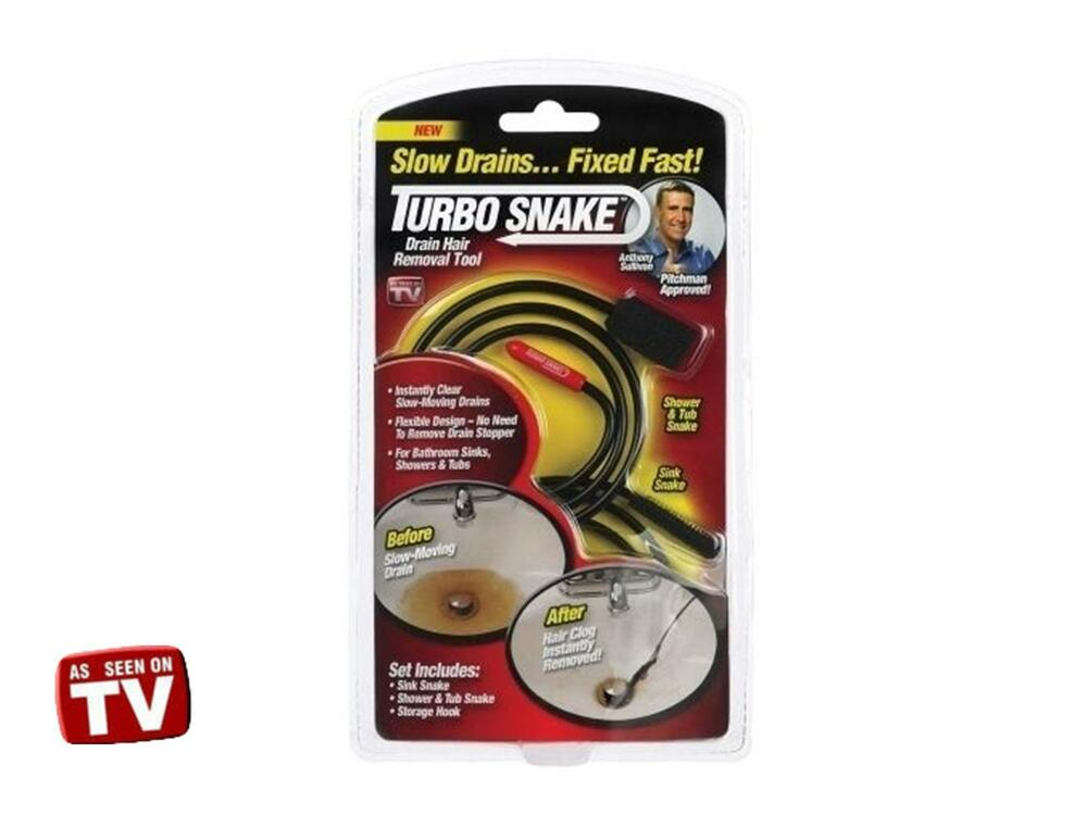 Set Of 2pc Turbo Snake Drain Hair Remover Tool As Seen On