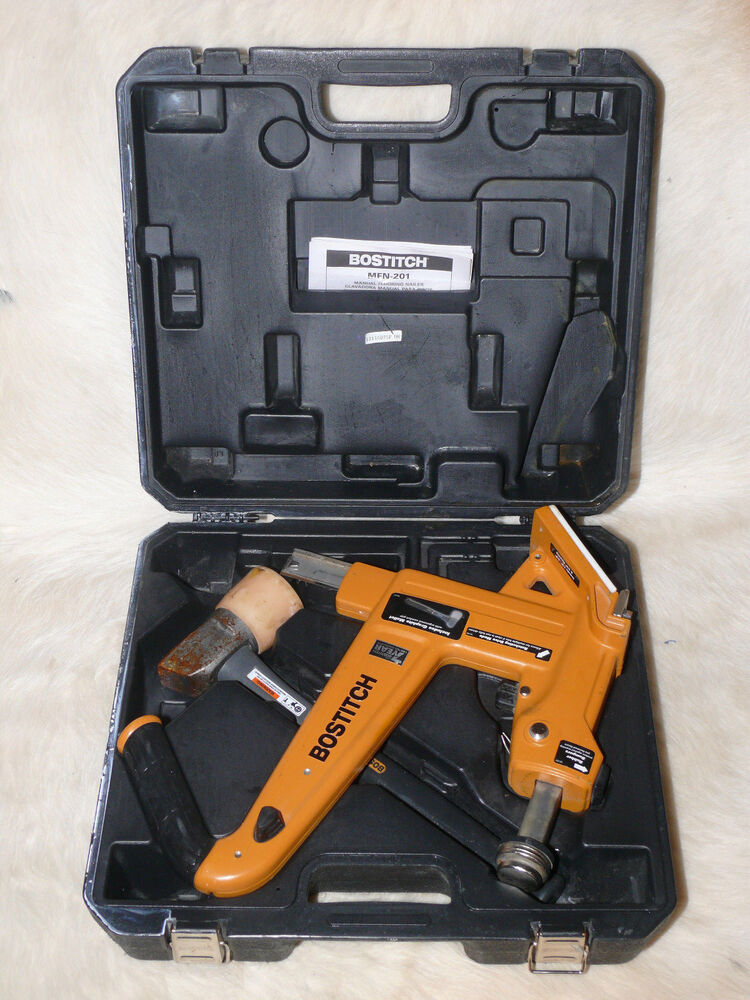 Bostitch Mfn 201 Manual Hardwood Flooring Cleat Nailer Kit