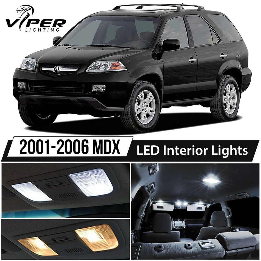 2001-2006 Acura MDX White LED Interior Lights Kit Package