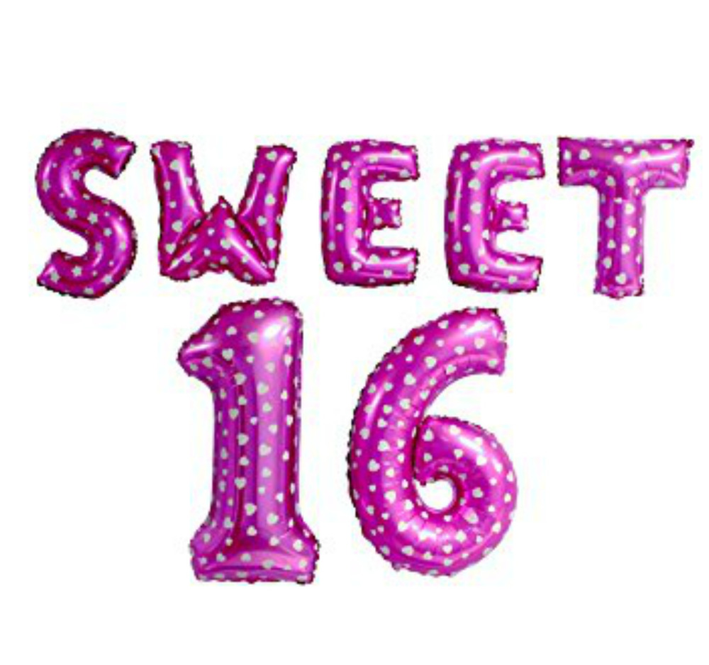 Girls Boys Sweet Sixteen 16 16th Birthday Party