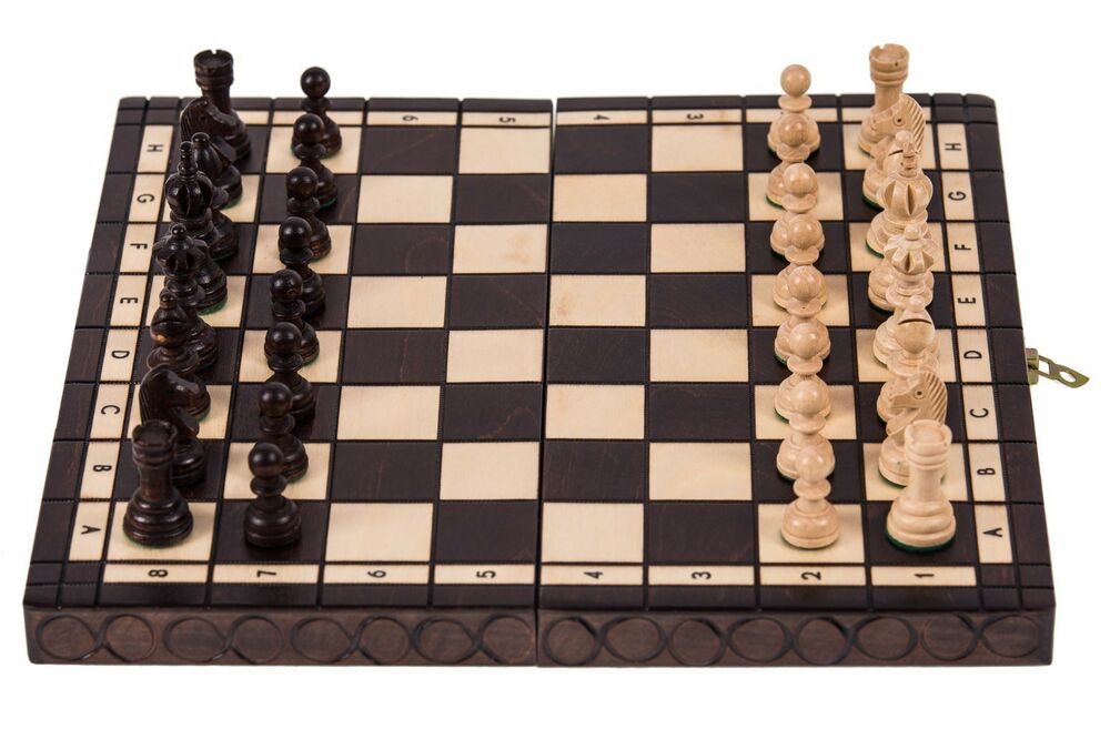 schach olymipa 35 x 35 cm schachspiel und schachfiguren aus holz ebay. Black Bedroom Furniture Sets. Home Design Ideas