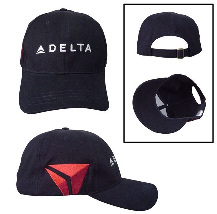 Delta Air Lines Navy Hat brand New Adjustable cap with wiget